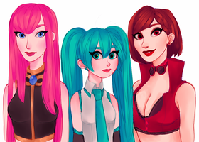 crypton ladies by snownymphs