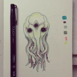 Eyes of Cthulhu sketch by gaborcsigas
