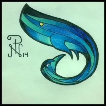 Whale tattoo design by fil-nachard