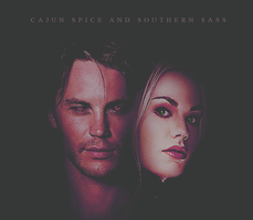 Anna Paquin as Rogue, Taylor Kitsch as Gambit by MsNinchen
