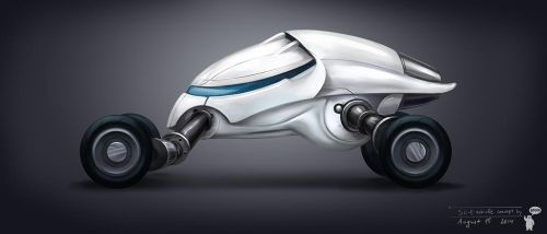 Sci-fi vehicle concept by bocho