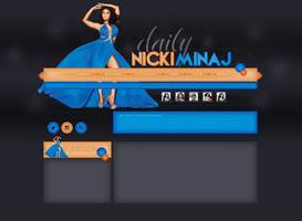 Nicki Minaj Free Layout by lenkamason