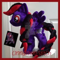 mlp plushie commission DUSKWING by CINNAMON-STITCH