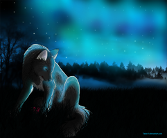 Sad wolf.. by Takas15