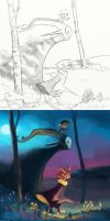 Painting Process: Life and Death by ApollinArt