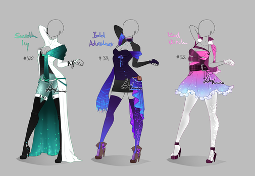 Outfit design - 320 - 322  - closed by LotusLumino