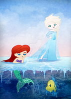 Frozen Mermaid by mell0w-m1nded