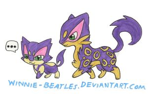 Walky Purrloin and Liepard