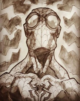 inktober2017 Day 22 spiderman by guillo0