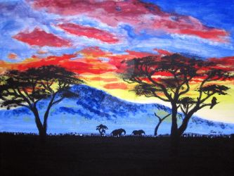African sunset by LoVeras