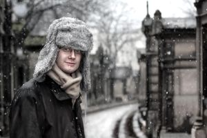 Snow on Pere Lachaise 8 by MadameOreille