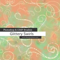 Glittery Swirls Photoshop and GIMP Brushes by redheadstock
