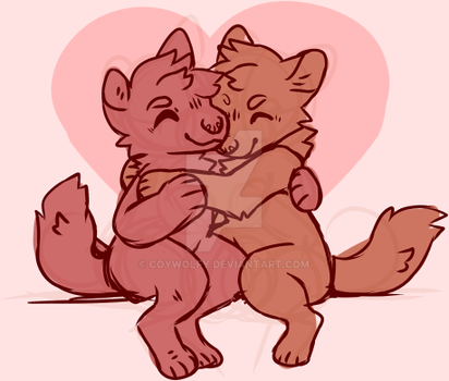 Valentine's Day YCH $30 by Coywolfy