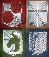 Attack On Titan Embroidery by AzreGreis