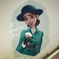 Wonder Woman and Ice Cream by ChrissieZullo