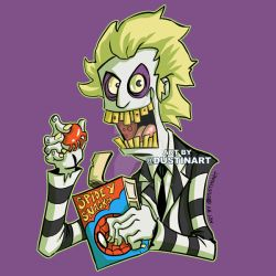 Beetlejuice loves Spidey Snacks by DustinEvans