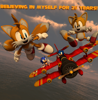 Happy 25th Birthday Tails! Fly Higher! by Spinosaurusking875