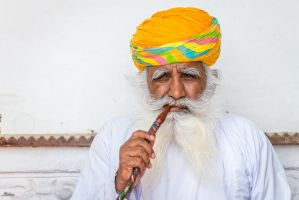 Incredible India - Hashish smoker by Rikitza