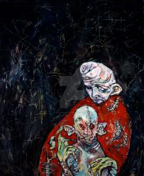 Lazaru and Baby Pink Eye by CliveBarker