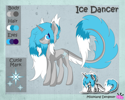 Ice Dancer refference sheet by Missklang