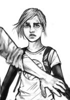 Last-of-us-Ellie-Sketch by minoanoa