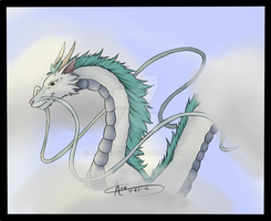 Spirited Away -Haku- Finished Product by AevusAeon