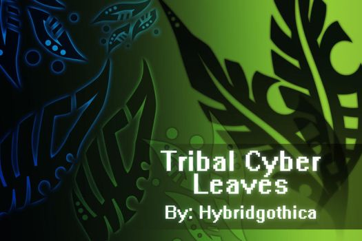 Tribal Cyber Leaves. by hybridgothica