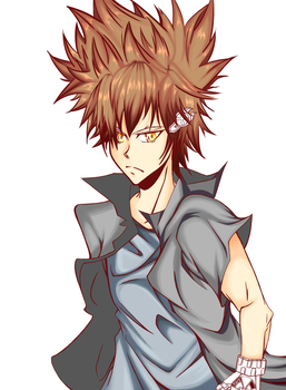 Tsuna KHR (FanArt) - Coloring and Shading WIP #2 by lagorradechristian