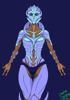 My first Mass Effect OC - Korry Vislae by DarthSkaron