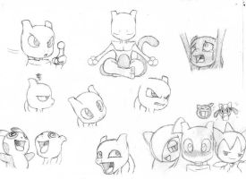 PMD:A.Knights -Mewtwo faces-