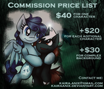 Commission price list by KairaAnix