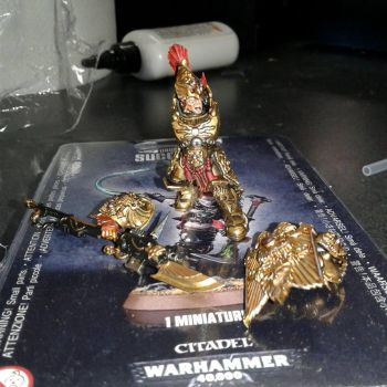 Legion Custodes Shield Captain WIP by sniperray213