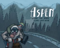 Dumb and Dumber Aspen Postcard