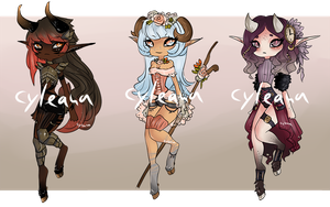 Faun Adoptable Auction [CLOSED] + an Extra! by Cyleana