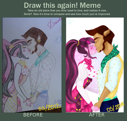Meme  Before And After  Draculaura x Clawd by Mandyy-Senpai