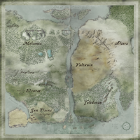 Map of the Melcon Continent by Inriconus