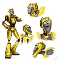 Animated Bumblebee Colored by D34tHn0Te