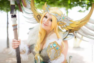 Overwatch Valkyrie Mercy Cosplay by LittleClockworkDoll