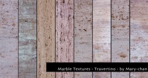 Marble Textures - Travertino by martinacecilia