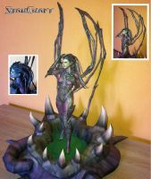 Starcraft - Sarah Kerrigan Papercraft by stange1337