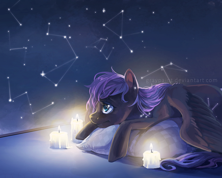 A starry night by GrayPaint