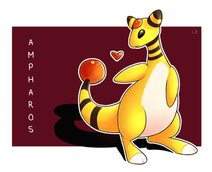 Pokemon - Ampharos by IncreasinglyCoherent
