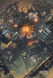 MOST DETAILED DRAWING EVER of UNICRON - FULL COLOR by boxofficeartist