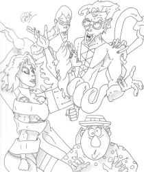 Plasticman and Friends (request) by Vaughn787