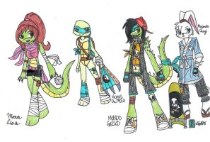 :CE: TMNT 2012 Redesigns 1 by kuku88