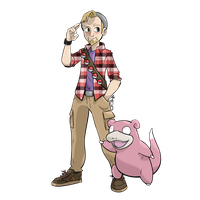 Commissioned Sketch - Pokemon Trainer and Slowpoke