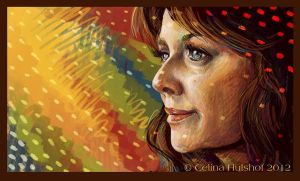 Amanda Tapping by concentriccookies