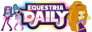 Equestria Daily Banner: Rainbow Rocks by ImperfectXIII