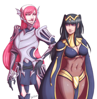 Cherche and Tharja by xMrNothingx