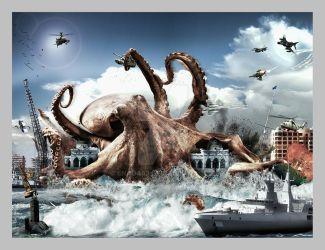 the monster octopus by enada83